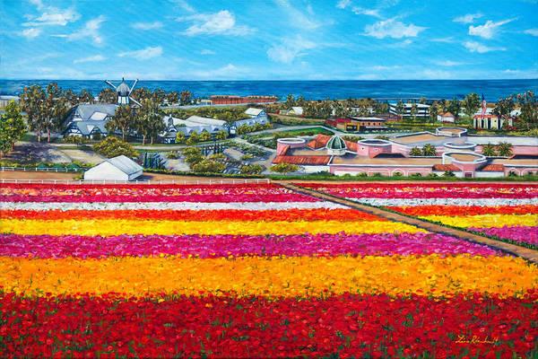 Wall Art - Painting - Flower Fields by Lisa Reinhardt