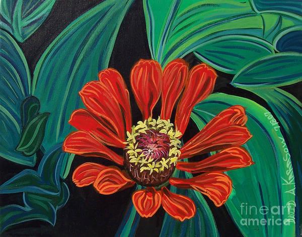 Painting - Flower O by David Karasow