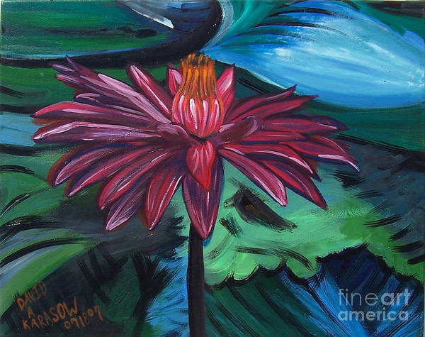 Painting - Flower Op by David Karasow
