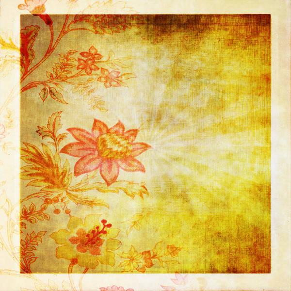 Aging Photograph - Flower Pattern by Setsiri Silapasuwanchai