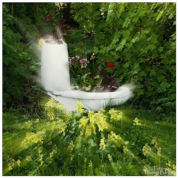 Abstract Flowers Wall Art - Photograph - Flower Toilet #flower #fantasy by Thomas Berger