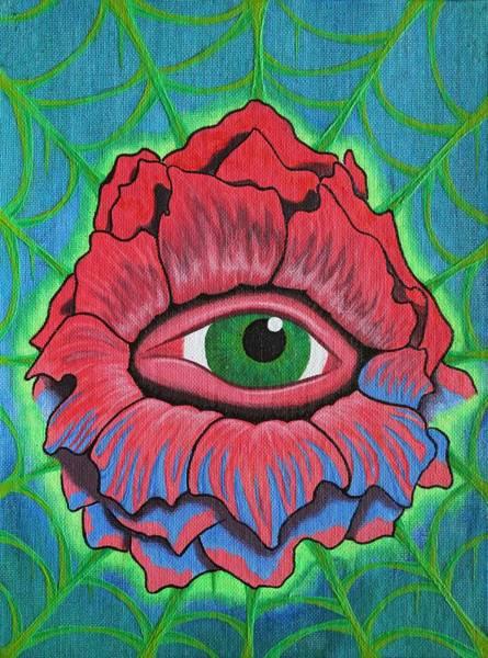 Eyeballs Painting - Flower Vision by Landon Clary