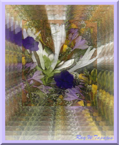 Mixed Media - Flowers For You To Infinity by Ray Tapajna