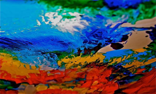 Wall Art - Painting - Flowing Colors by Gloria Warren