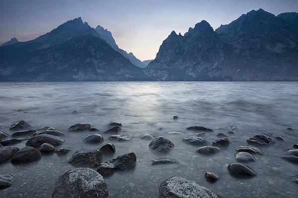 Boulder Mountains Photograph - Flowing Water At Jenny Lake by Andrew Soundarajan