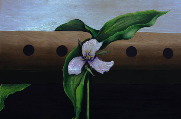 Painting - Fluted Floer by Virginia Bond