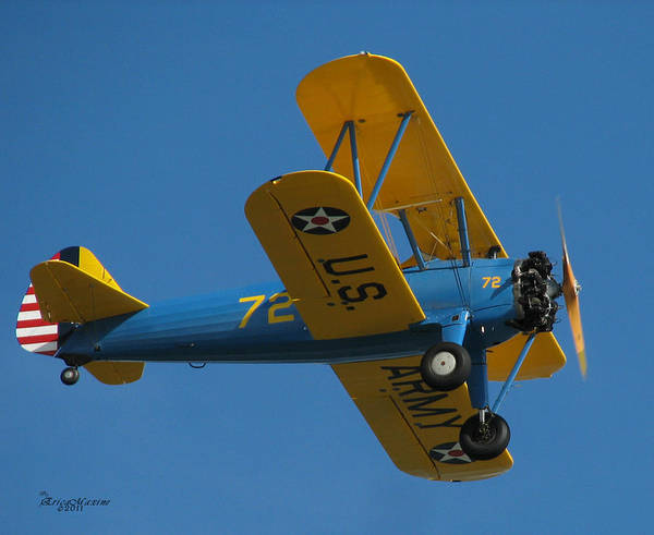 Photograph - Fly Away - Stearman Bi-plane  by Ericamaxine Price