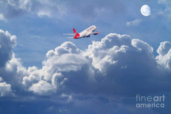 Photograph - Fly Me To The Moon by Wingsdomain Art and Photography