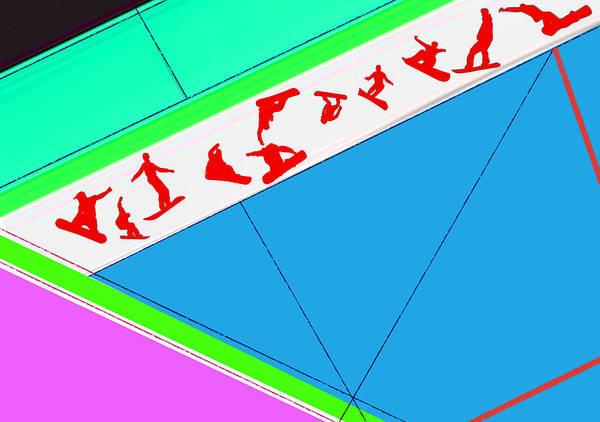 Snowboard Wall Art - Digital Art - Flying Boards by Naxart Studio