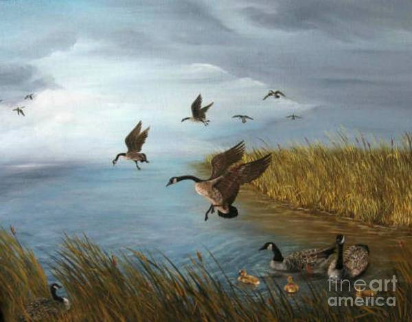 Wall Art - Painting - Flying Geese by Patricia Lang