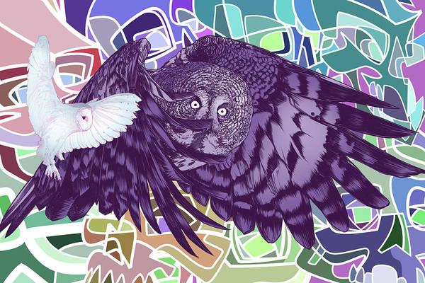 Wall Art - Digital Art - Flying Over Skulls by Nelson Dedos Garcia