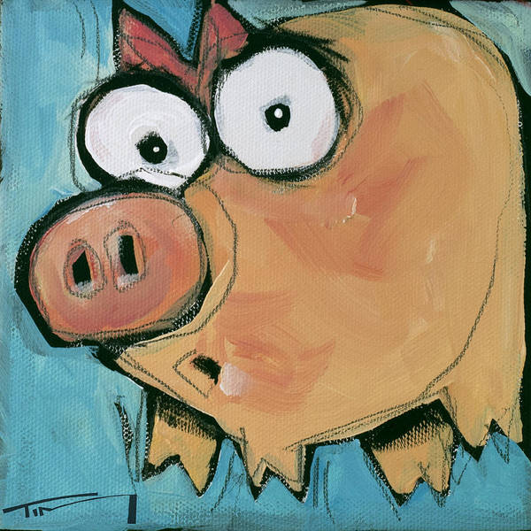 Painting - Flying Pig 2 by Tim Nyberg