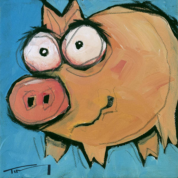 Painting - Flying Pig 3 by Tim Nyberg