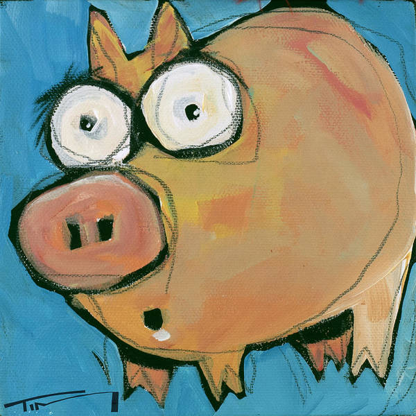 Painting - Flying Pig 4 by Tim Nyberg
