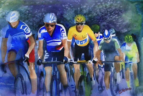 Le Tour De France Wall Art - Painting - Focus On Yellow by Shirley  Peters