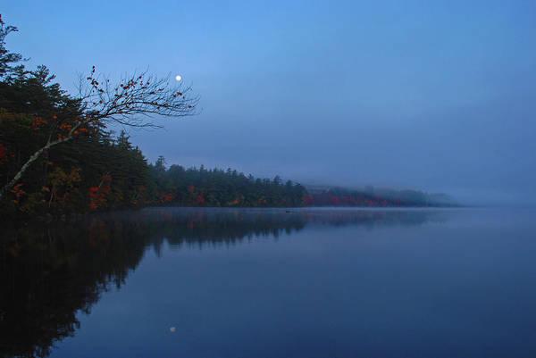Photograph - Foggy Autumn Dawn by Nancy De Flon