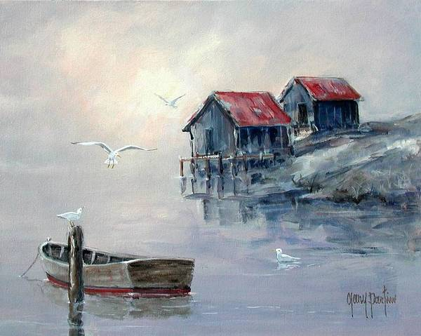 Painting - Foggy Cove II by Gary Partin