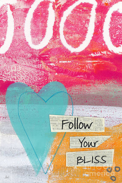 Color Mixed Media - Follow Your Bliss by Linda Woods