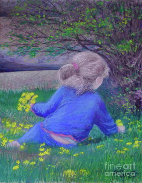 Dandilions Painting - Follow Your Heart by Penny Neimiller