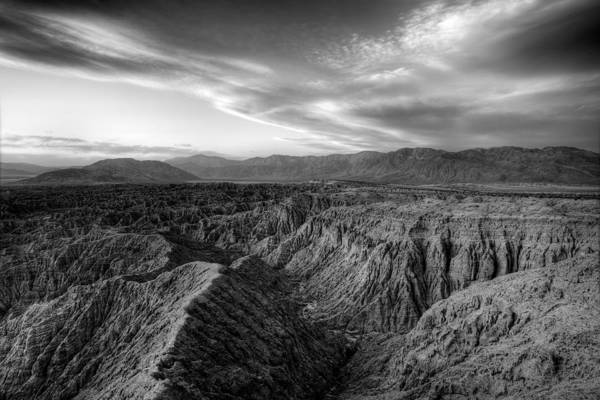 Photograph - Font's Point Overlook   Black And White by Peter Tellone