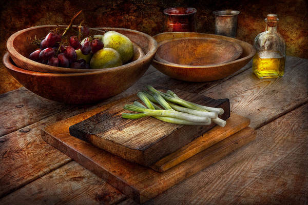 Salad Dressing Photograph - Food - Vegetable - Garden Variety by Mike Savad