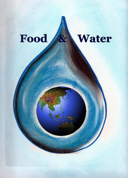 Painting - Food And Water by Ahonu
