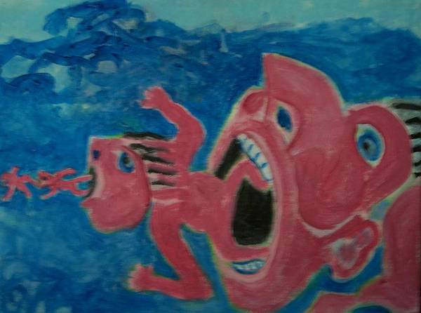 Food Chain Painting - Food Chain by Jay Manne-Crusoe