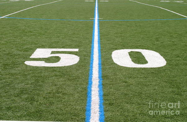 Football Field Fifty Art Print