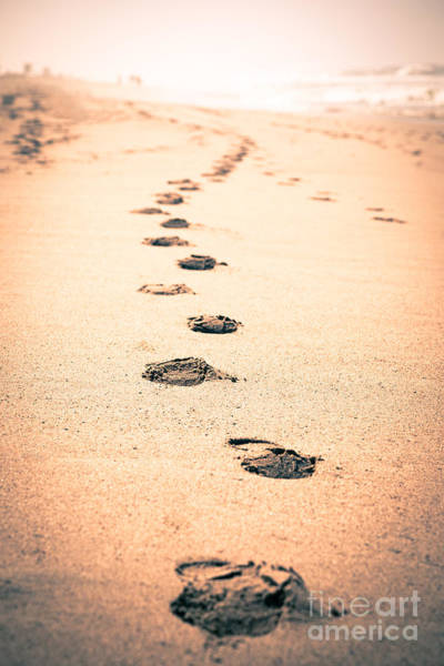 Footstep Wall Art - Photograph - Footprints In Sand by Paul Velgos
