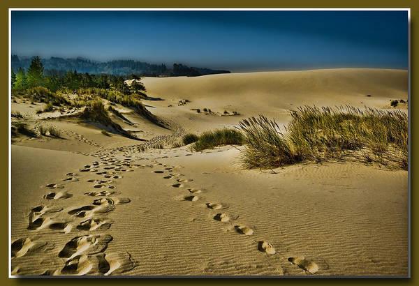 Sand Dunes Digital Art - Footprints In The Dunes by Dale Stillman