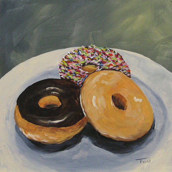 Wall Art - Painting - For The Love Of Krispy Kreme by Torrie Smiley