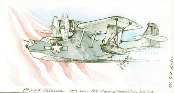 Oak Harbor Painting - For The Pby Museum by Judi Nyerges