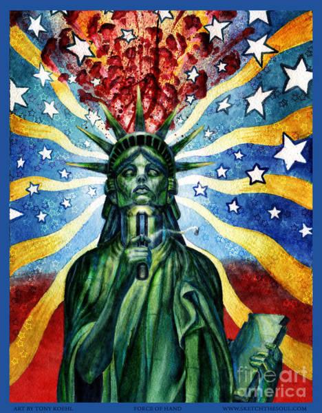 Mixed Media - Force Of Hand by Tony Koehl