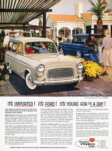 Photograph - Ford Avertisement, 1959 by Granger