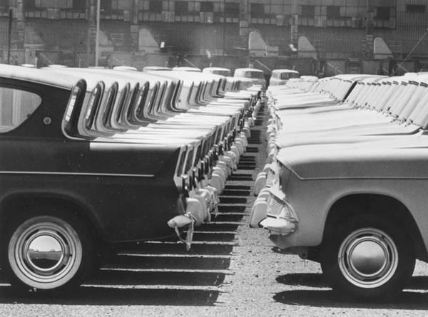 1961 Photograph - Ford Bumpers by Central Press