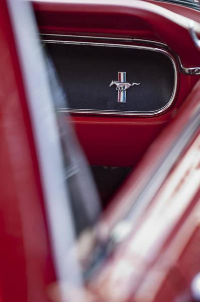 Photograph - Ford Mustang Dash Emblem by Jill Reger