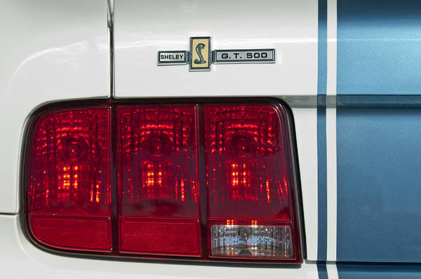 Photograph - Ford Shelby Cobra Gt 500 Taillight by Jill Reger