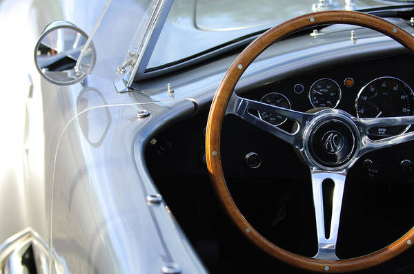 Photograph - Ford Shelby Cobra Steering Wheel 2 by Jill Reger