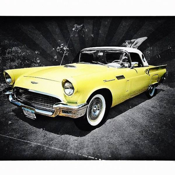Autos Photograph - Ford Thunderbird by Natasha Marco