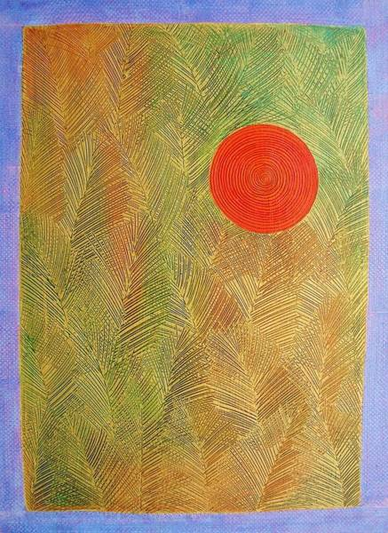 Wall Art - Painting - Forest And Sun by Jennifer Baird