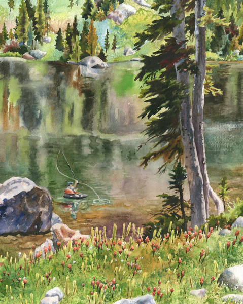 Wall Art - Painting - Forest Lake by Anne Gifford