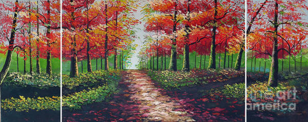 Wall Art - Painting - Forest Path by Kostas Dendrinos