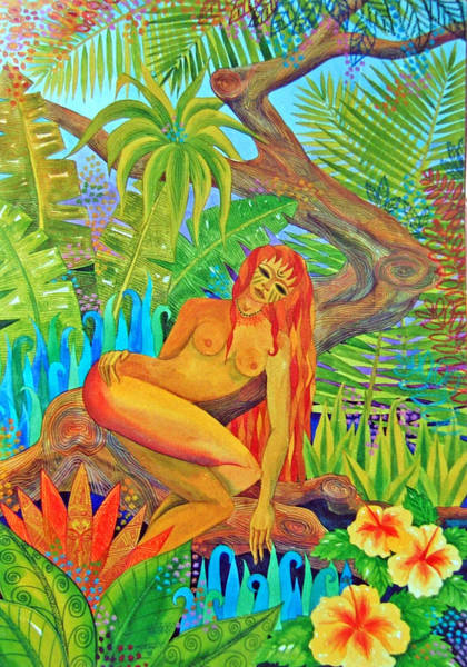 Wall Art - Painting - Forest Yogini by Jennifer Baird