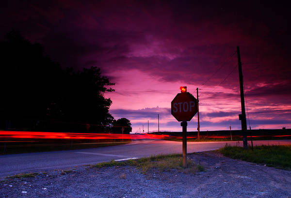 Stop Light Photograph - Fork In The Road by Cale Best