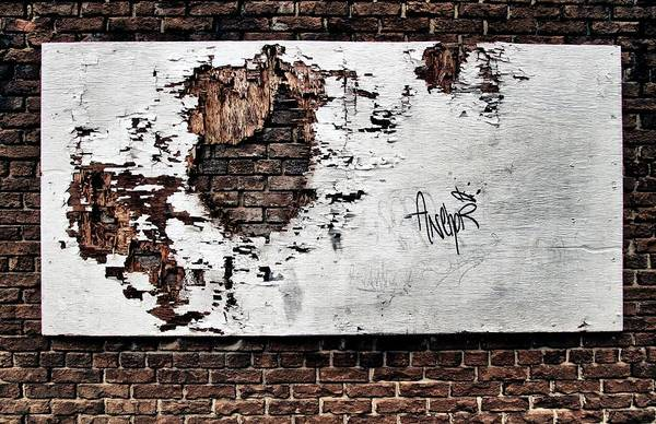 Crumble Photograph - ...forlorn And Torn by Russell Styles
