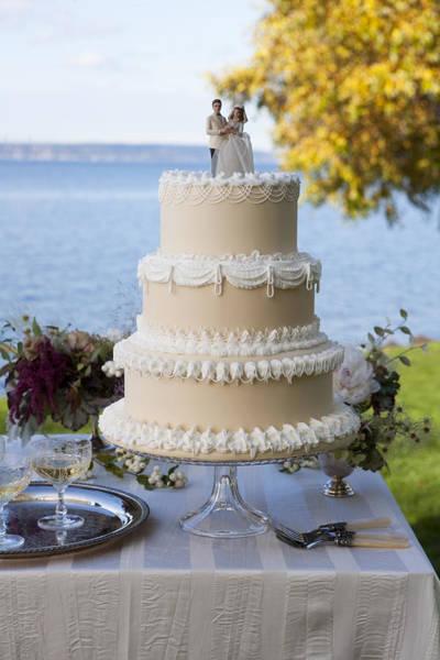 Wedding Cake Photograph - Formal Wedding Cake by Danielle Leavell