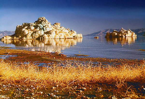 Photograph - Formations On Pyramid Lake by C Sitton