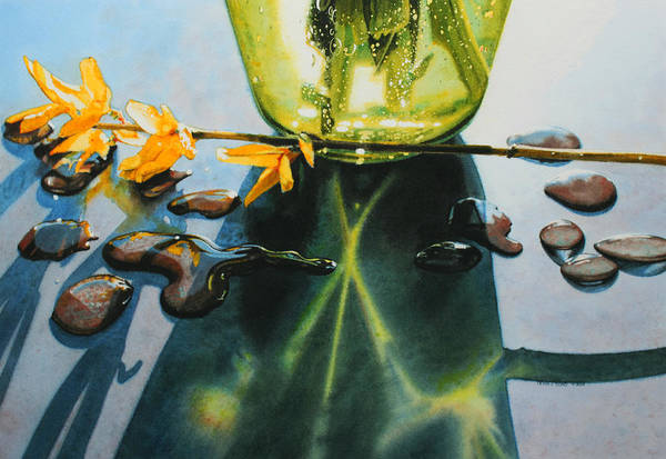 Forsythia Painting - Forsythia by Denny Bond