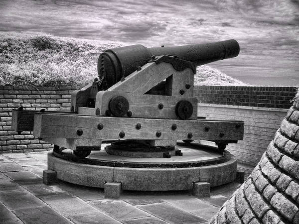 Photograph - Fort Moultrie Canon - Infrared by Bill Barber