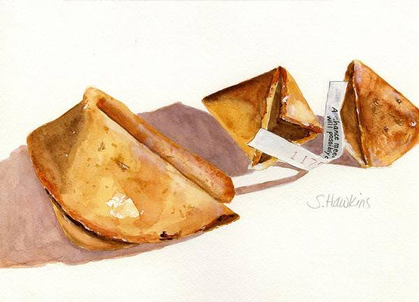 Wall Art - Painting - Fortune Cookies by Sheryl Heatherly Hawkins